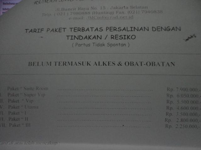 Daftar Tarif Melahirkan dengan Induksi