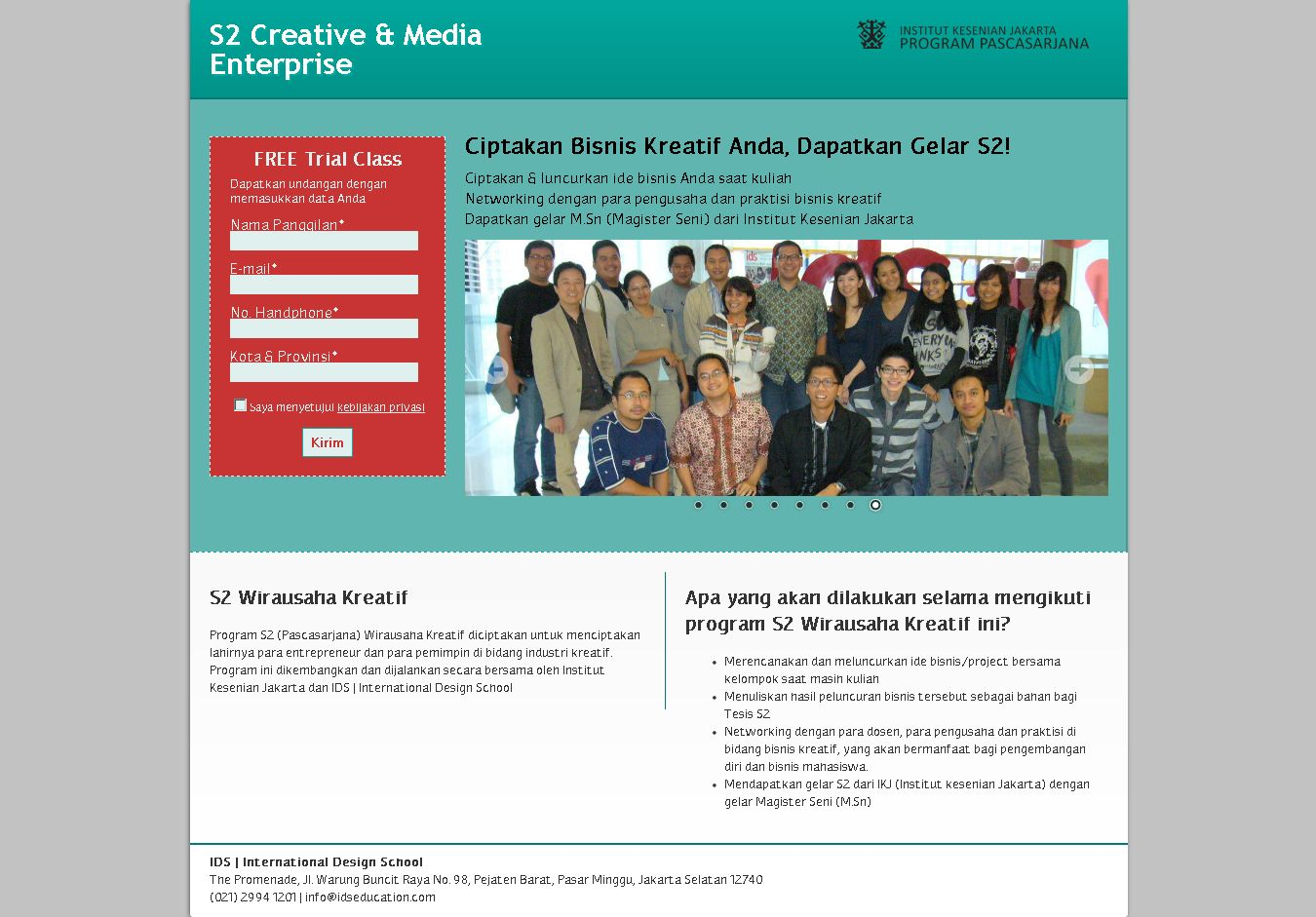 landing page s2
