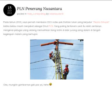 lomba blog PLN 2012