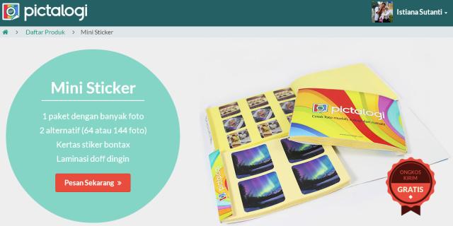 Pictalogi   Informasi Produk Mini Sticker